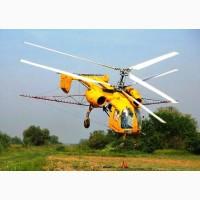 Услуги вертолета по обработке озимого гороха НС Мороз