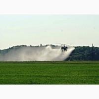 Обработка полей вертолетами